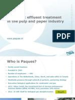 PAQUES - Anaerobic Effluent Treatment Pulp & Paper