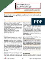 Serum beta 2-microglobulin as a biomarker in inflammatory bowel disease