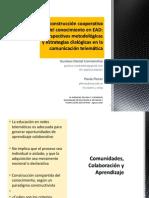 Constantino & Florez La Construcción Cooperativa Del Conocimiento en EAD