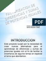 Factorización Sumas y Restas