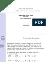 05MN Solución de Sistemas de Ecuaciones Lineales