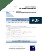 Maths Olympiad 2009