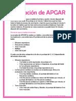 Valoración de APGAR