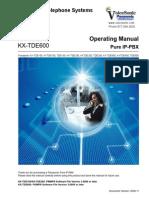 Panasonic Kx Tde100 200 600 Operating Manual 3702