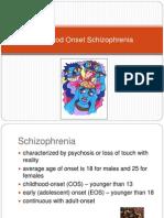 childhood Onset Schizophrenia(1)