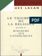 Lacan, Le Triomphe de la religion