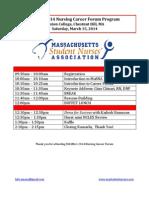 career forum 2014 program