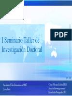 Seminario Investigacion Doctoral