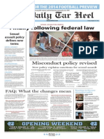 The Daily Tar Heel for August 29, 2014