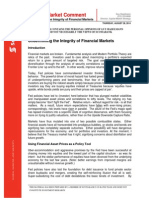 Undermining the Intergrity of Financial Markets