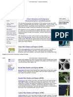 Fiber Reinforced Polymers - Characteristics and Behaviors