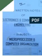 MicroProcessor & Computer Organisation