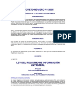 17.Dto. 41 95 Ley Del Registro de Informacion Catastral Actualizado