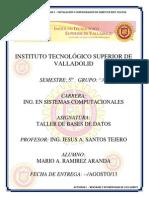 Actividad 1 - Caracteristicas de SGBD's