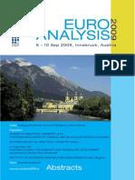 Euroanalysis XV, Innsbruck, 2009, Congress Abstracts