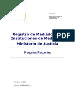 Preguntas Frecuentes Del Registro de Mediadores e Instituciones de Mediacion