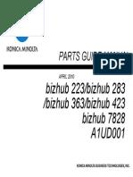 Bizhub 223 Parts Guide