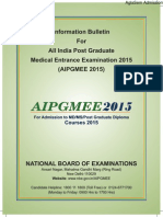 AIPGMEE 2015 Information Bulletin