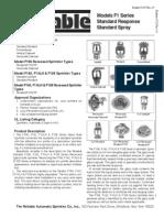SPRINKLER Model F1 56 Standard Response Sprinklers