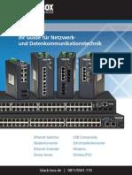 Netzwerk- und Datenkommunikationslösungen im Büro und in der Industrie.