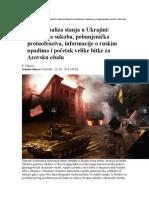 Pregled i Analiza Stanja u Ukrajini Eskalacija Sukoba Pobunjenička Protuofenziva Informacije o Ruskim Upadima i Početak Velike Bitke Za Azovsku Obalu