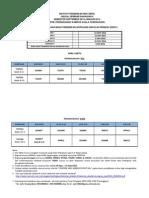 Jadual Kuliah PPG ED231 Part 6 UiTM Chendering