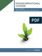 Medidata Transformational Change REPORT