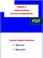 Chapter 9 -- Cluster Analysis