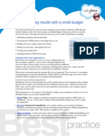 How to get big results with a small budget