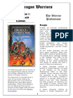 Dragon Warriors House Rules 1