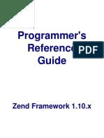 ZendFramework1.10 Programmer Guide
