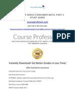Penn Foster 986033 Consumer Math, Part 2 Study Guide