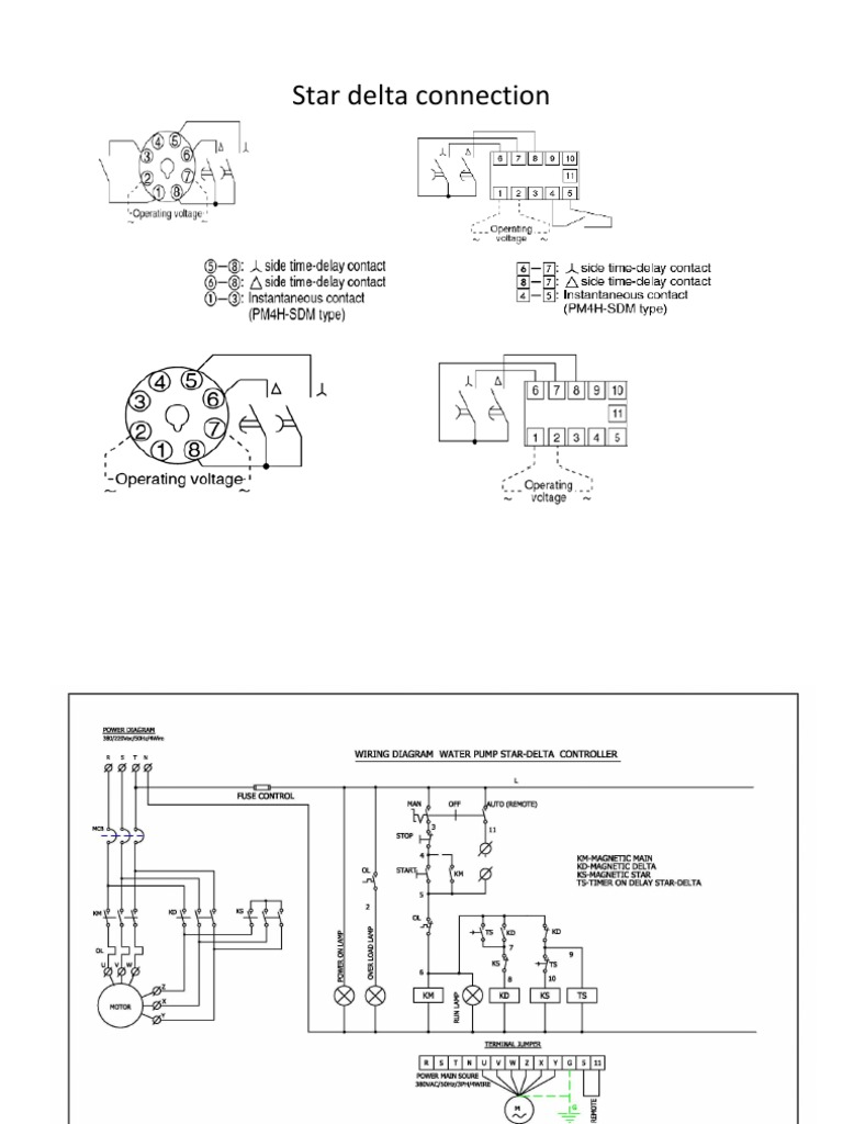 Star Delta Connection Electrical Connector Wiring Wye Motor Starter Diagram On Transformer