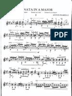 Sonata in A Major (by Anton Diabelli)