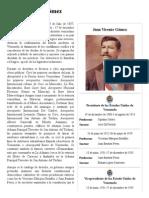Juan Vicente Gómez - Biografia