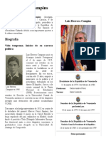 Luis Herrera Campins - Biografia