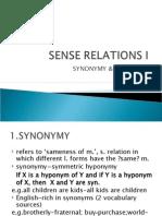 4. Sense Relations i