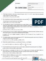 subiect admitere politehnica bucuresti 2014 -Fizica