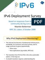 IPv6 Deployment Survey