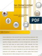 Investor & Analyst Meet Presentation Vaibhav GlobalJune 2014