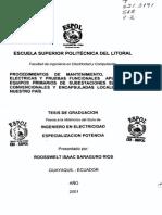 Pruebas Electricas y Funcionales a Equipos Primarios de Subestaciones
