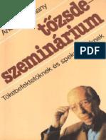 Tozsdeszeminarium - Andre Kostolany