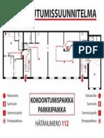 pelastautumissunnittelma evacuation plan