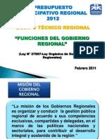 3. Funciones Gobierno Regional