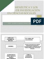 La Hermenéutica y Los Métodos de Investigación en (1)