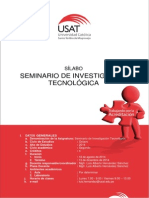Sílabo Seminario de Investigación Tecnológica 2014 - II