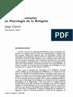 Perspectivas Actuales en Psicologia de La Religion