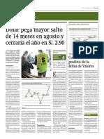 Dólar Pega Mayor Salto de 14 Meses_Gestión 29-08-2014