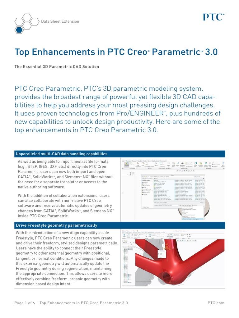 PTC Creo Parametric Top Enhancements   Computing   Technology