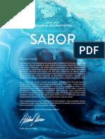 Sabor Seafood Fest 2014 Menu
